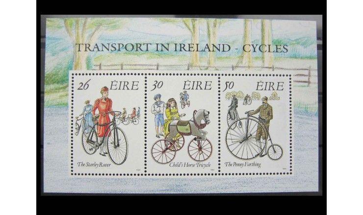 """Ирландия 1991 г. """"Ирландский транспорт: Исторические велосипеды"""""""