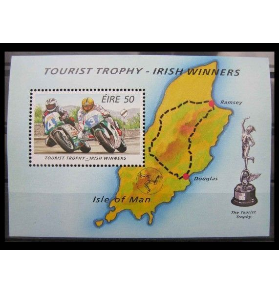 """Ирландия 1996 г. """"Ирландские победители мотоциклетной гонки Турист Трофи"""""""