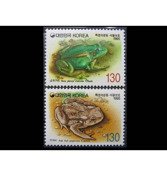 "Южная Корея 1995 г. ""Охрана природы: Лягушки"""