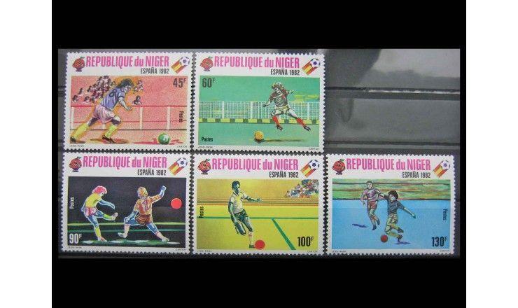 """Нигер 1980 г. """"Чемпионат мира по футболу, Испания 1982"""""""