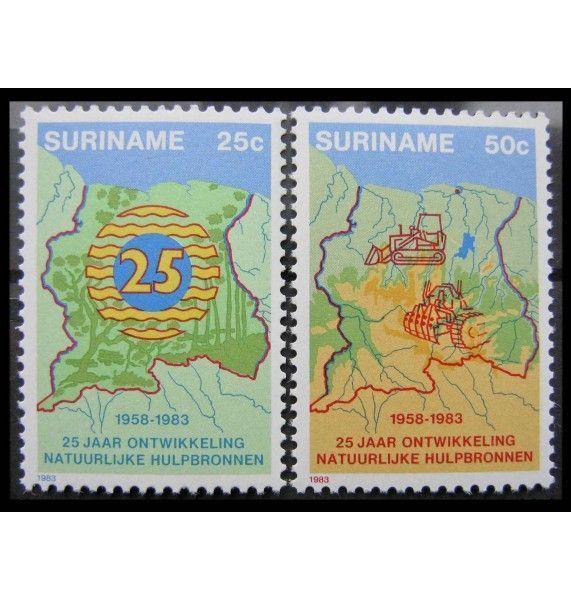 """Суринам 1983 г. """"25-летие Министерства экономического развития"""""""