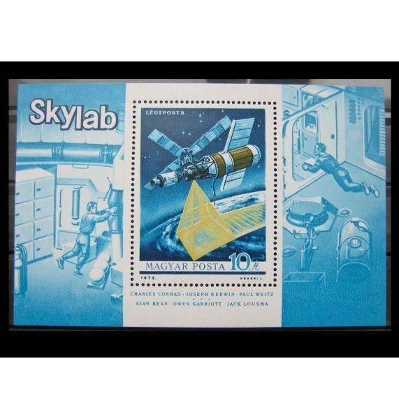 """Венгрия 1973 г. """"Космическая станция «Скайлэб»"""""""