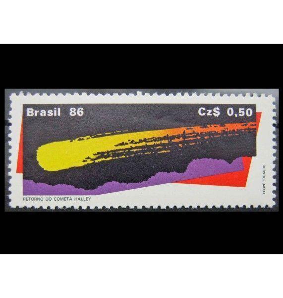 """Бразилия 1986 г. """"Комета Галлея"""""""