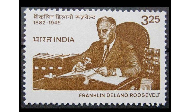 """Индия 1983 г. """"100-летие Франклина Рузвельта"""""""