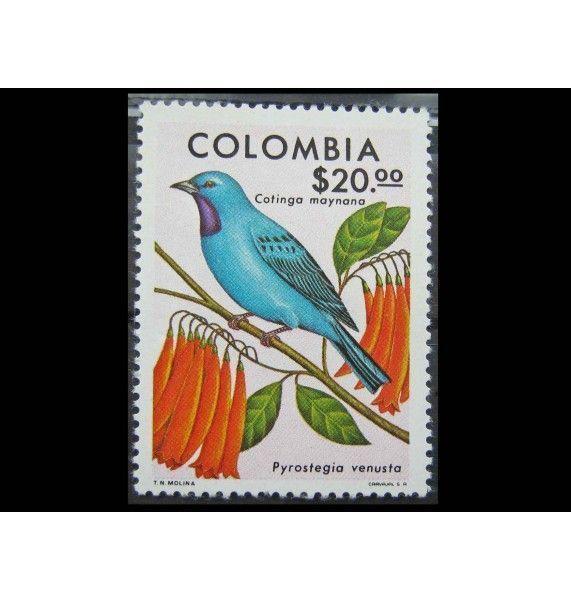 """Колумбия 1977 г. """" Птицы и цветы"""""""