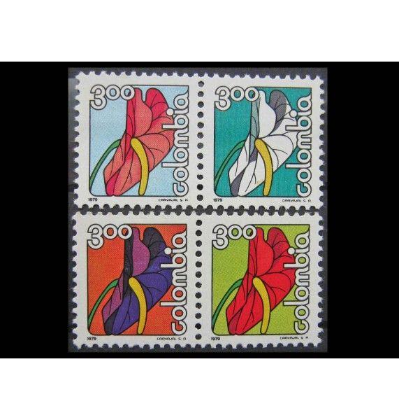 """Колумбия 1979 г. """"Антуриум из Нариньо"""""""