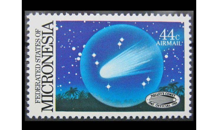 """Микронезия 1986 г. """"Комета Галлея"""""""