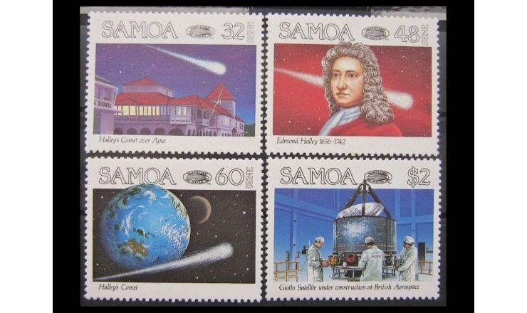"""Самоа 1986 г. """"Комета Галлея"""""""