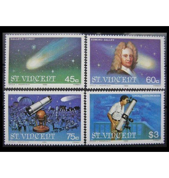 """Сент-Винсент и Гренадины 1986 г. """"Комета Галлея"""""""