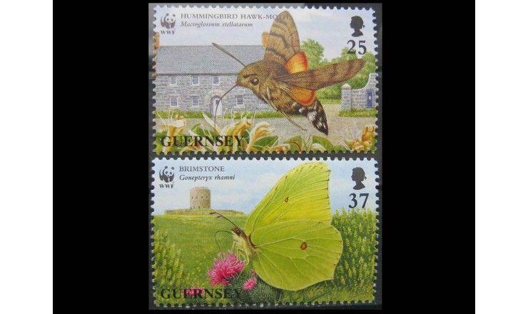 """Гернси 1997 г. """"Всемирный фонд дикой природы: Бабочки"""""""