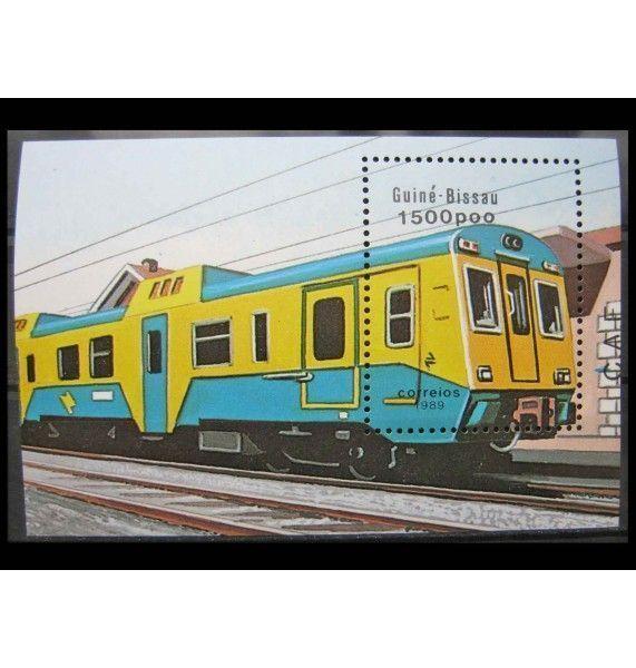 """Гвинея-Бисау 1989 г. """"Железнодорожный транспорт"""""""