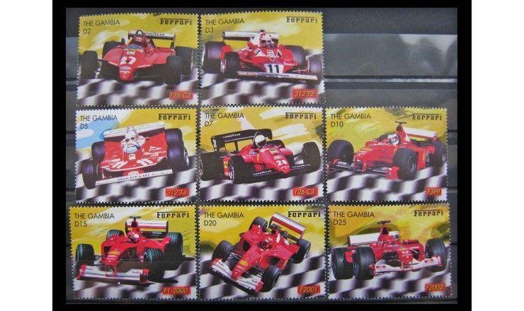 """Гамбия 2003 г. """"Гоночные автомобили Ferrari"""""""