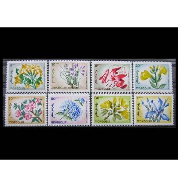 """Монголия 1966 г. """"Местные цветы"""""""