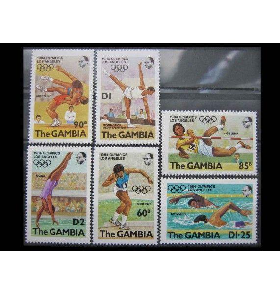 """Гамбия 1984 г. """"Летние Олимпийские игры, Лос-Анджелес"""""""