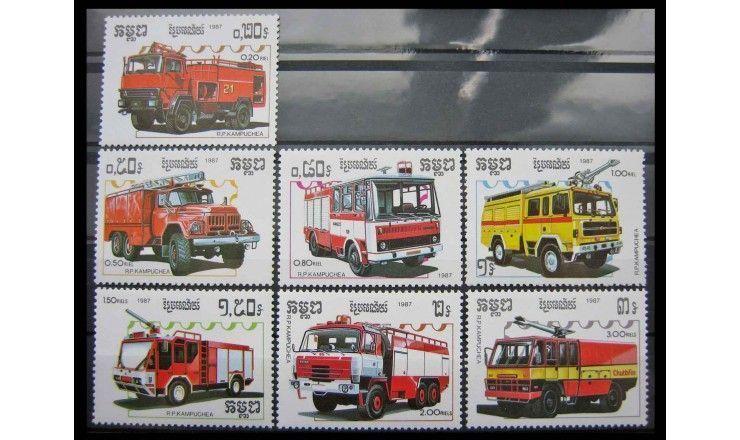 "Камбоджа 1987 г. ""Пожарные машины"""