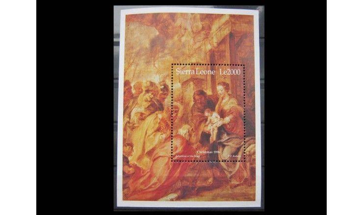 """Сьерра-Леоне 1996 г. """"Рождество: Религиозные картины"""""""