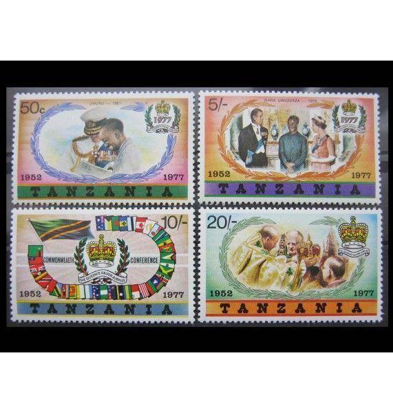 """Танзания 1977 г. """"25-летие регентства королевы Елизаветы II"""""""