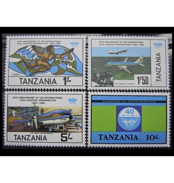 """Танзания 1984 г. """"40 лет Международной организации гражданской авиации"""""""