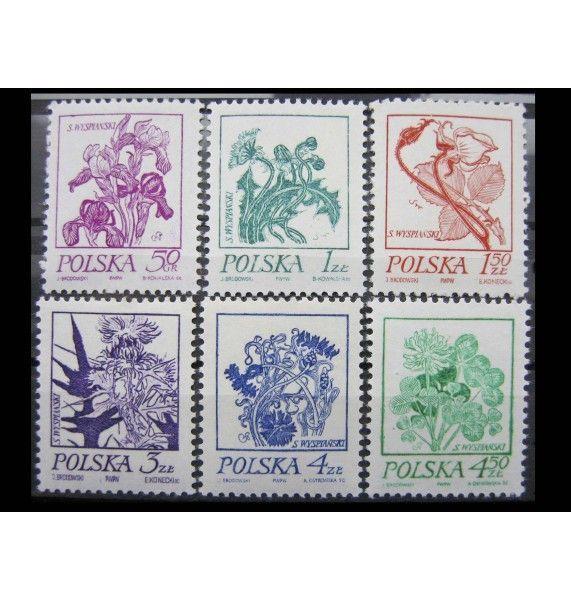 """Польша 1974 г. """"Цветы"""""""