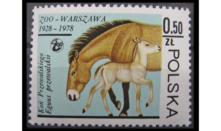 """Польша 1978 г. """"50-летие варшавского зоопарка, Животные"""""""