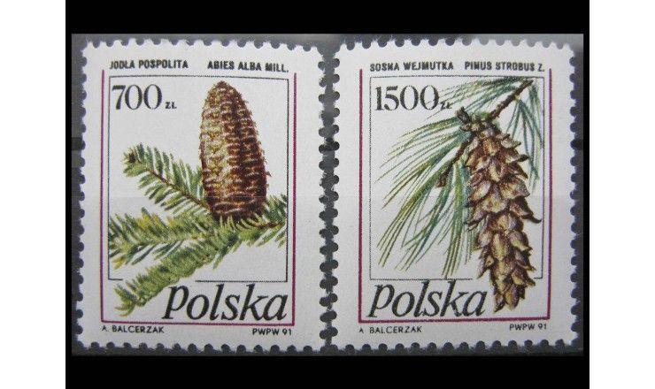 """Польша 1991 г. """"Хвойные деревья"""""""