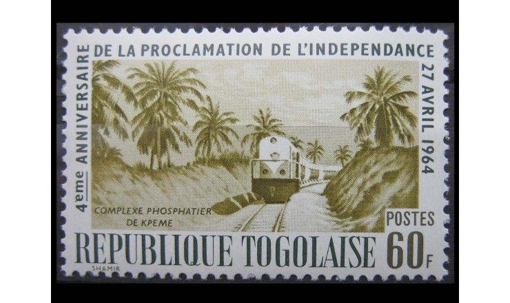 """Того 1964 г. """"Четвертая годовщина независимости, Транспорт"""""""