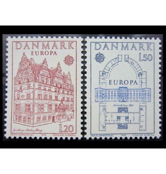 "Дания 1978 г. ""Европа CEPT: Памятники архитектуры"""