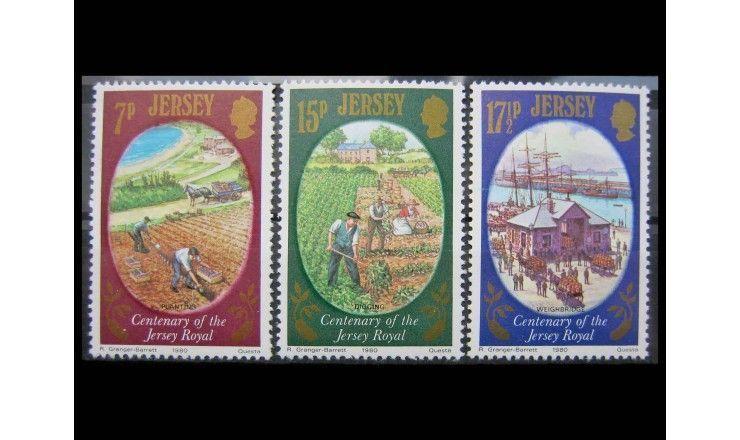 """Джерси 1980 г. """"100-летие картофеля «Jersey Royal»"""""""
