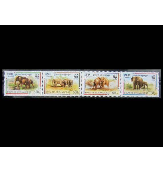 "Камбоджа 1997 г. ""Охрана природы: Азиатский слон"""
