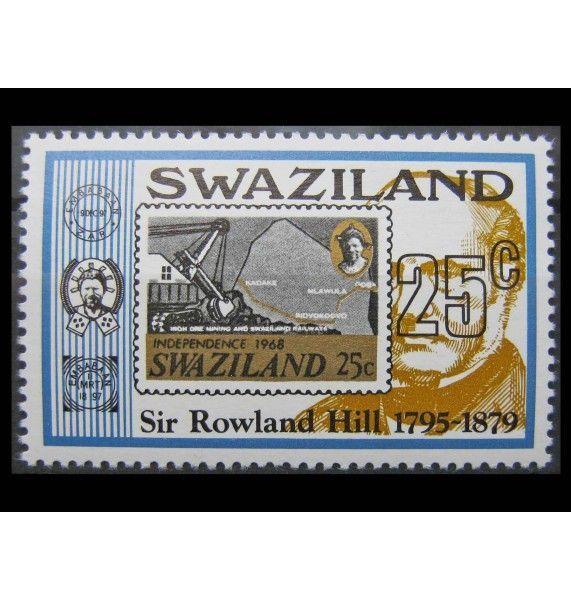 """Свазиленд 1979 г. """"100-летие Роулэнда Хилла"""""""