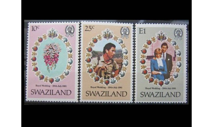 """Свазиленд 1981 г. """"Свадьба принца Чарльза и леди Дианы Спенсер"""""""