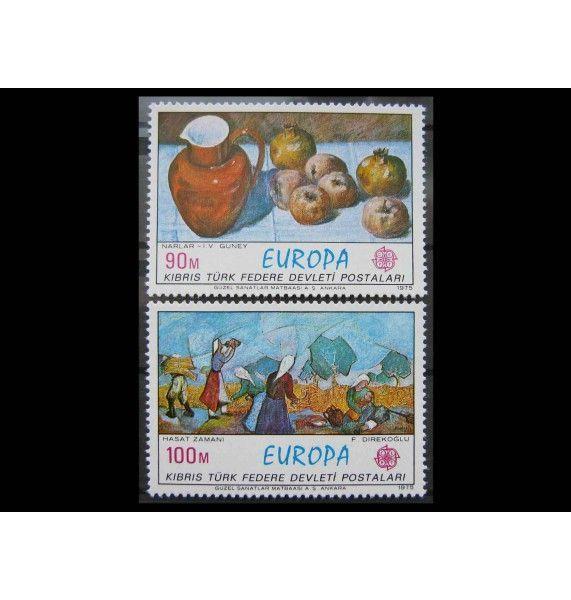 "Турецкий Кипр 1975 г. ""Европа CEPT: Картины"""