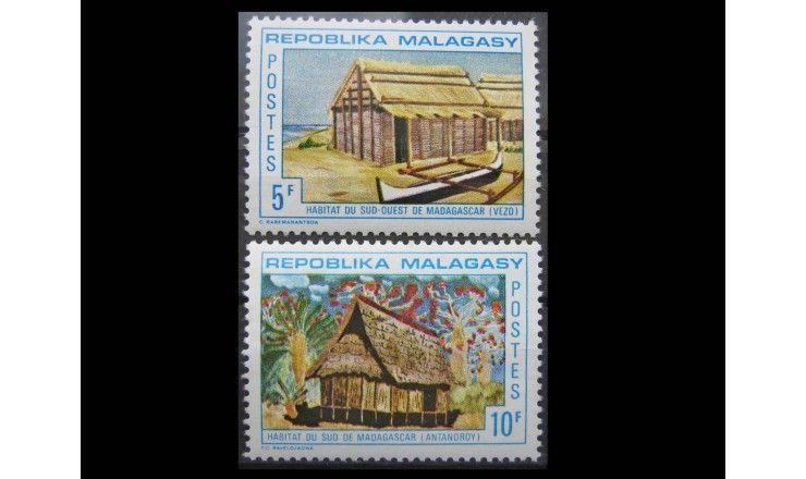 """Мадагаскар 1971 г. """"Архитектурные стили страны"""""""