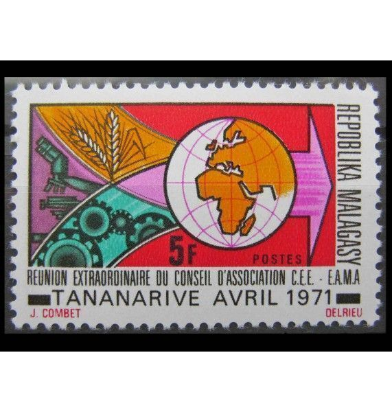 """Мадагаскар 1971 г. """"Внеочередное заседание Совета Европейского экономического пространства"""""""