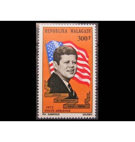 "Мадагаскар 1973 г. ""10 лет смерти Джона Кеннеди"""