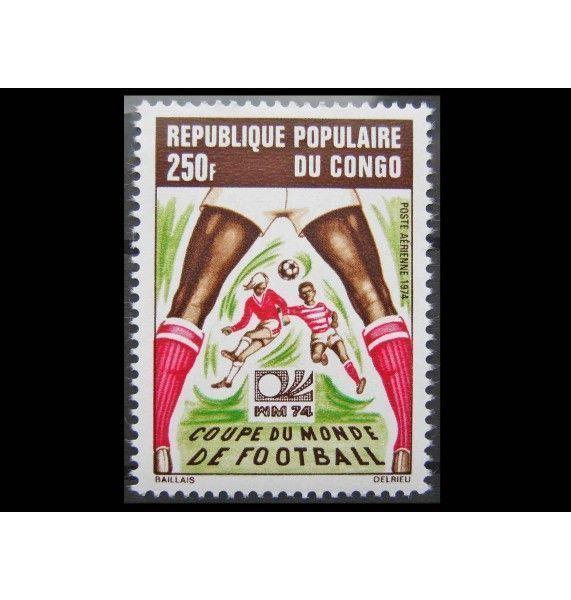"""Народная Республика Конго 1974 г. """"Чемпионат мира по футболу, Германия"""""""