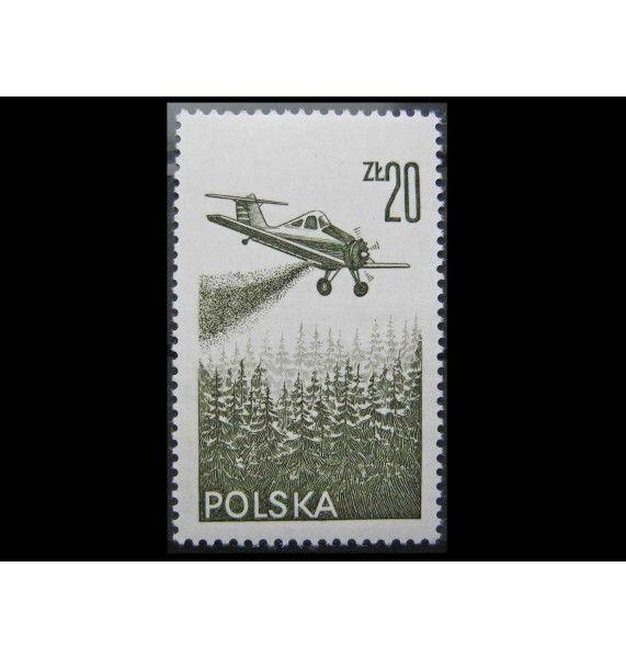 """Польша 1977 г. """"Современный самолет"""""""