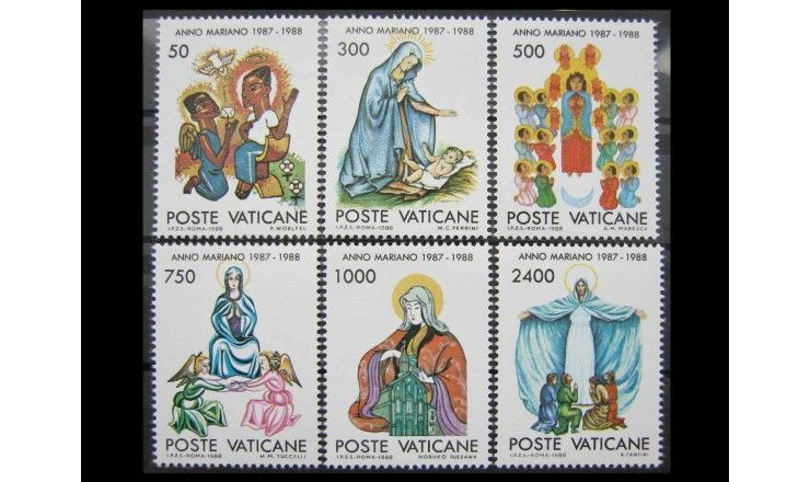 """Ватикан 1988 г. """"Год Анны Марии (1987-1988): Картины"""""""