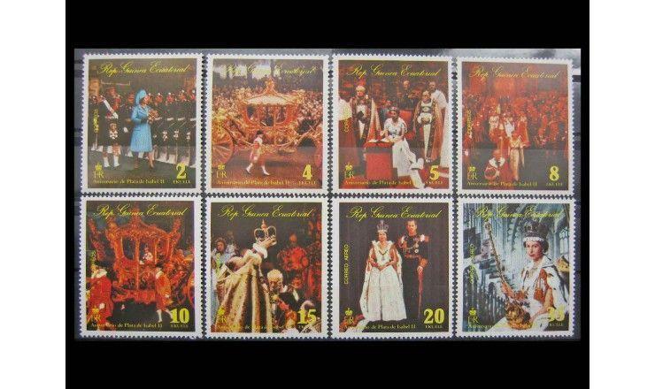 """Экваториальная Гвинея 1977 г. """"25-летие регентства королевы Елизаветы II"""""""