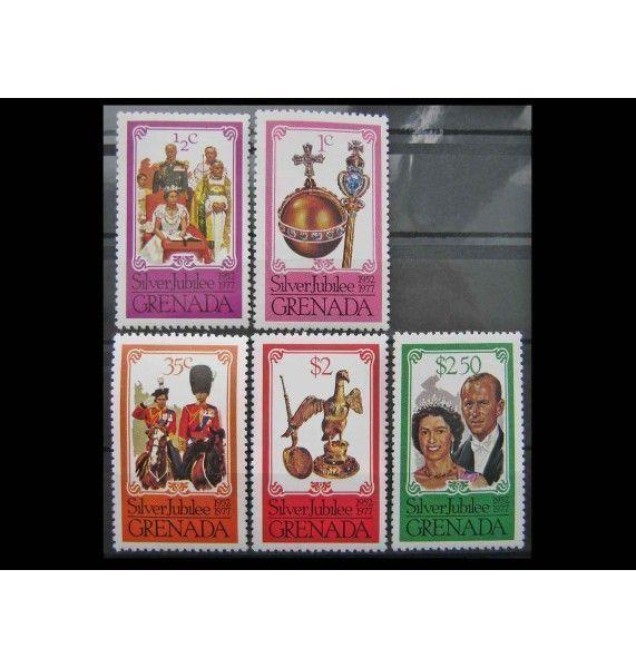 """Гренада 1977 г. """"25-летие регентства королевы Елизаветы II"""""""