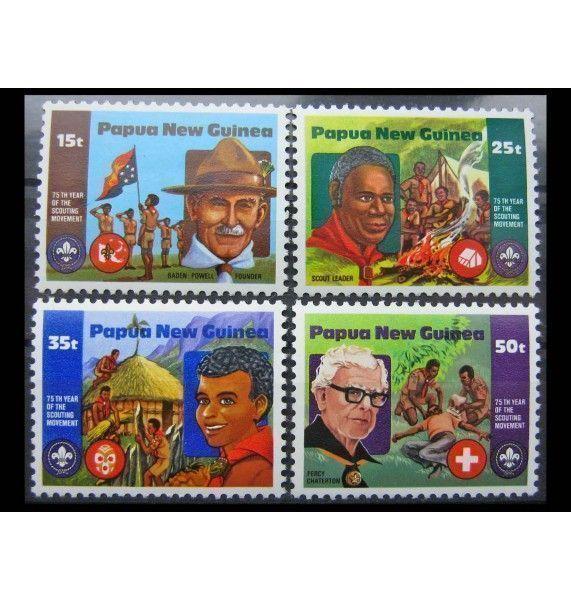 """Папуа-Новая Гвинея 1982 г. """"75-летие Скаутского движения"""""""