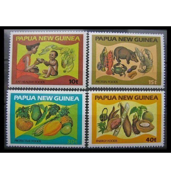 """Папуа-Новая Гвинея 1982 г. """"Продукты питания"""""""