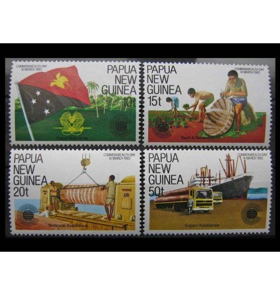 """Папуа-Новая Гвинея 1983 г. """"День содружества"""""""