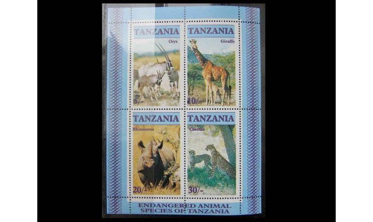 """Танзания 1986 г. """"Исчезающие дикие животные"""""""