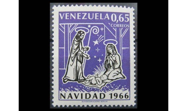 "Венесуэла 1966 г. ""Рождество"""