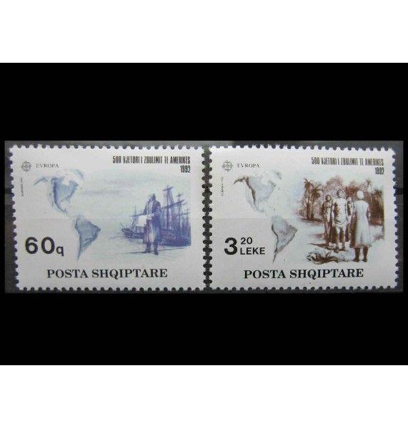 """Албания 1992 г. """"Европа: 500 лет открытия Америки"""""""