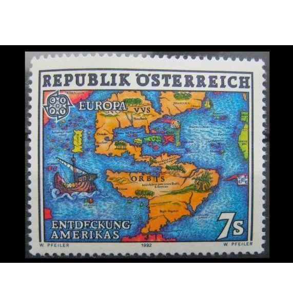 """Австрия 1992 г. """"Европа: 500 лет открытия Америки"""""""