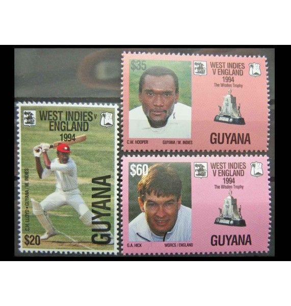 """Гайана 1994 г. """"100-летие первого английского крикетного тура"""""""