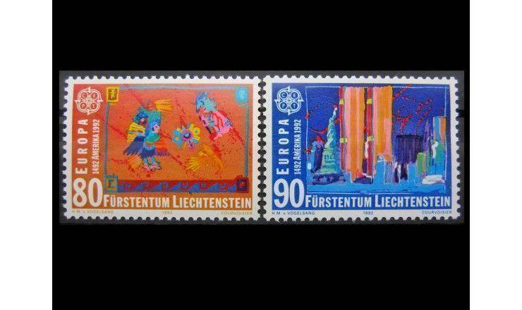 """Лихтенштейн 1992 г. """"Европа: 500 лет открытия Америки"""""""