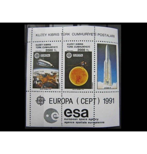 """Турецкий Кипр 1991 г. """"Европа CEPT - Европейское космическое агентство"""""""